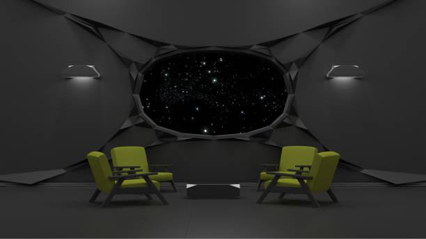 Sci fi interior Render 3D - foto de stock