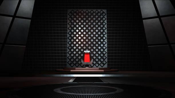 sci fi throne room 3d-rendering - tron sci fi bildbanksfoton och bilder