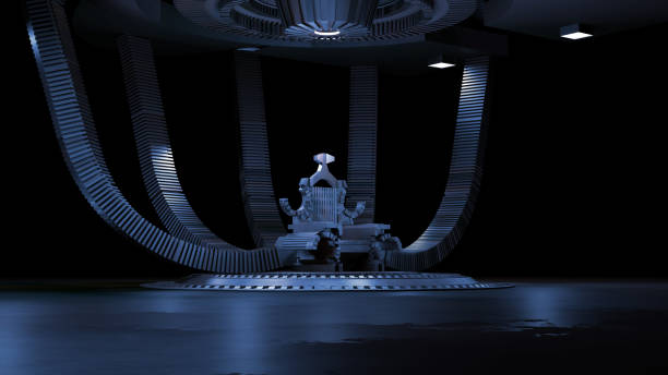 Sci fi Throne room 3d rendering