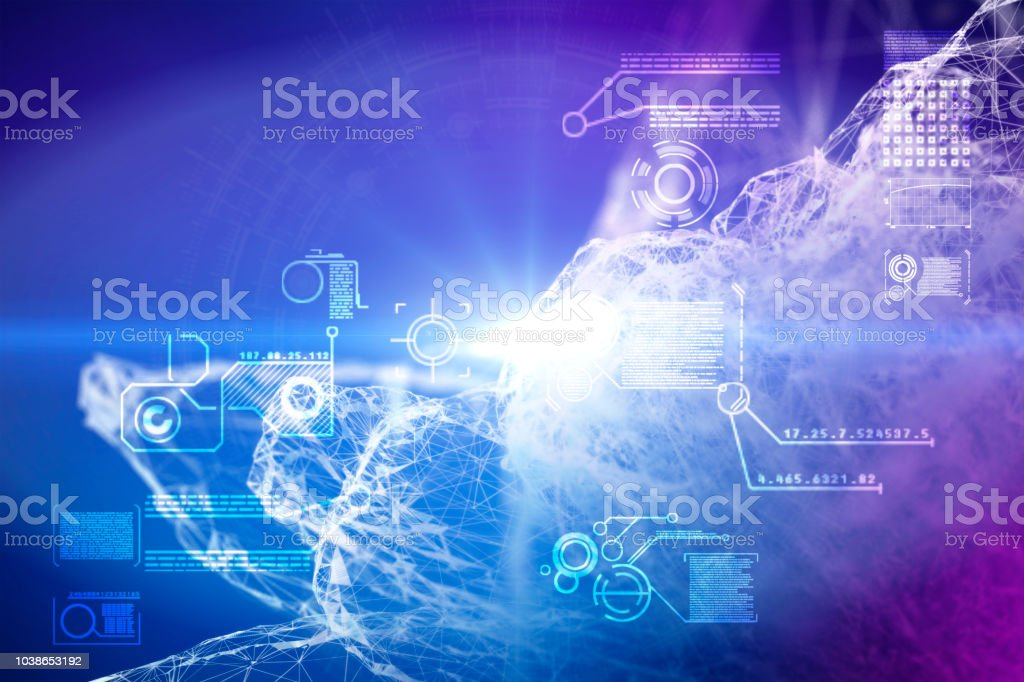 science abstract stock photo