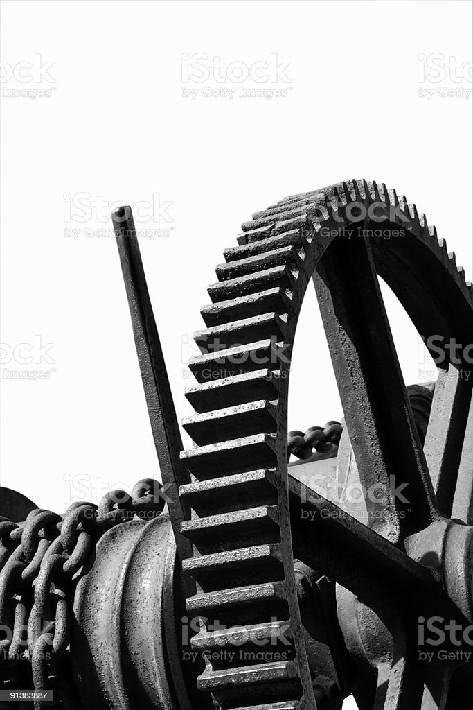 Science & Technology Symbol, Black and White Image royalty-free stock photo