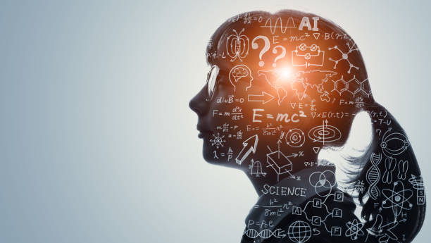 Science and education concept. AI (Artificial Intelligence). stock photo