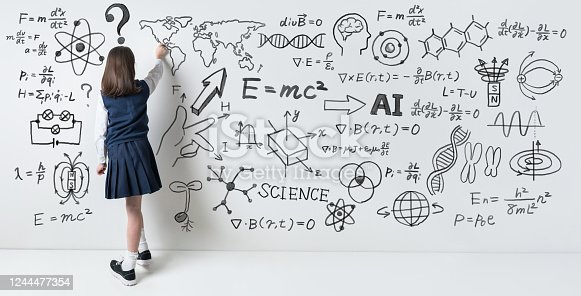 911029590 istock photo Science and education concept. Studying girl. 1244477354