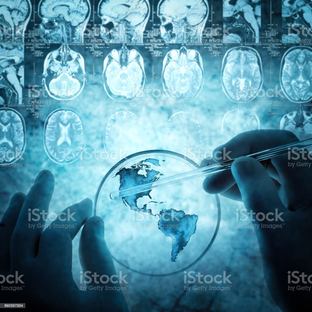 science and medical background stock photo