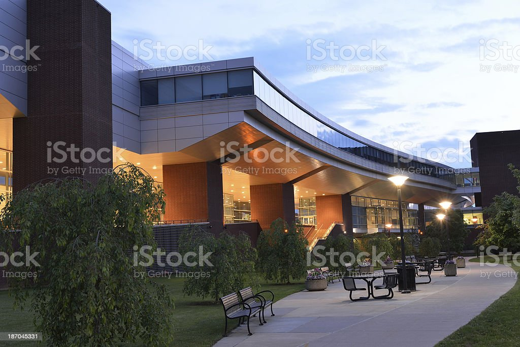 Science and Technology Building in Penn State royalty-free stock photo