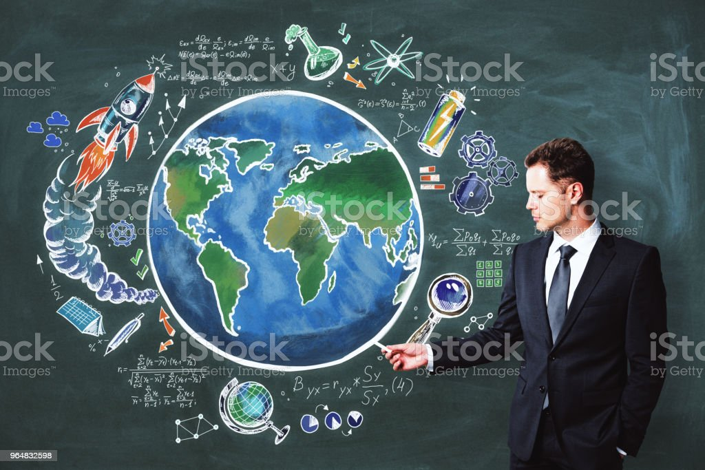Science and world backdrop royalty-free stock photo