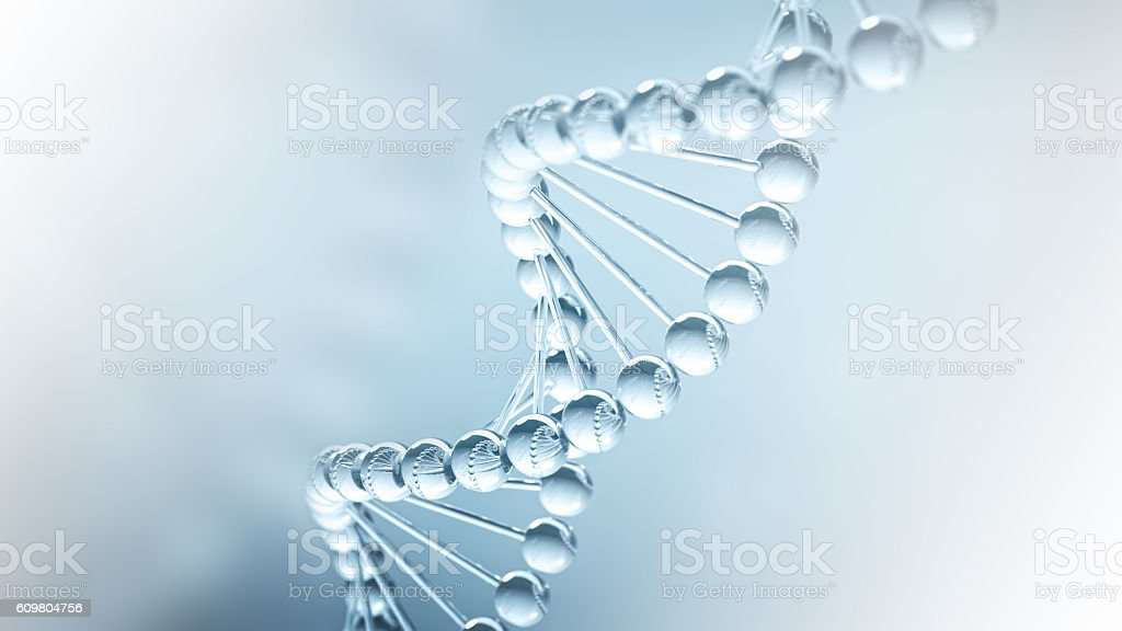 DNA science Background - 3D illustration stock photo