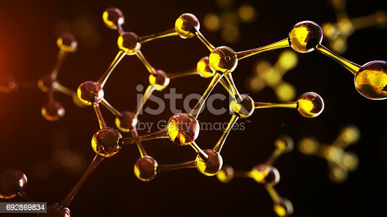 692869882 istock photo Science background with molecules and atoms 692869834
