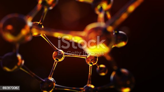 istock Science background with molecules and atoms 692870082