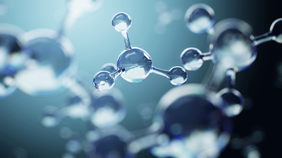 istock Science background with molecules and atoms 692898868