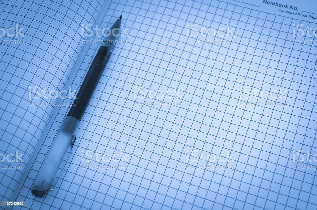science date notebook royalty-free stock photo