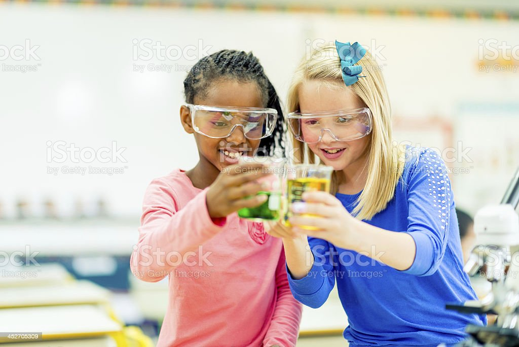 Science experiment stock photo