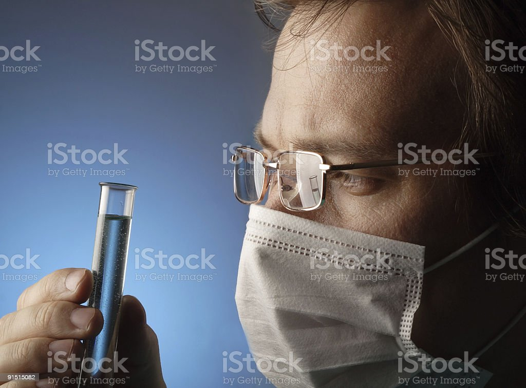 science experiment royalty-free stock photo