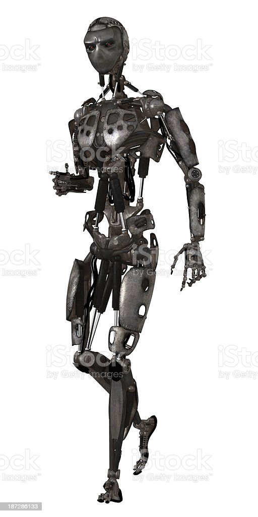 Science fiction cyborg royalty-free stock photo