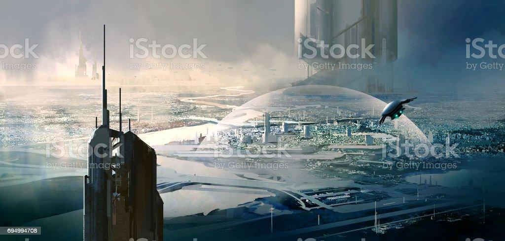 Escena de ciencia ficción. - Foto de stock de Aire libre libre de derechos