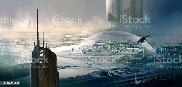 Escena De Ciencia Ficción Foto de stock y más banco de imágenes de Aire libre