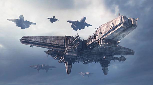 science fiction ovni - vaisseau spatial photos et images de collection