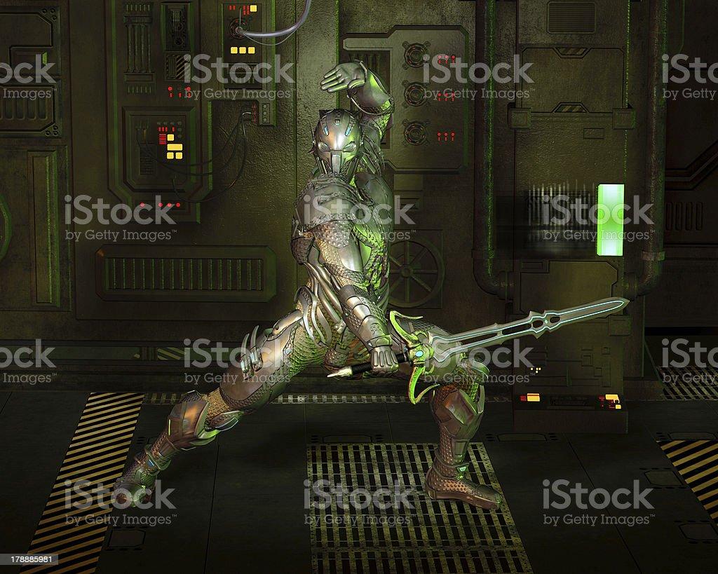 Science Fiction Warrior Knight stock photo