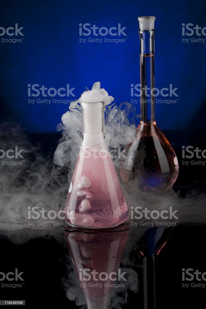 Science Flasks stock photo