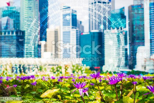 1045841966istockphoto Science flower chaotic city 1132671407