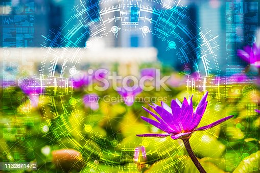 1045841966istockphoto Science flower chaotic city 1132671472