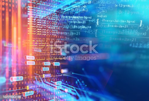 1047349788 istock photo science formula and math equation abstract background 1022590238