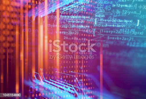 1047349788 istock photo science formula and math equation abstract background 1045154690