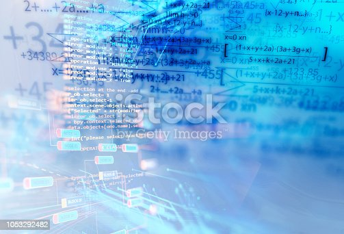 1047349788istockphoto science formula and math equation abstract background 1053292482