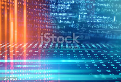 1047349788 istock photo science formula and math equation abstract background 1057755008