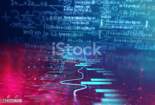 1047349788 istock photo science formula and math equation abstract background 1147228028