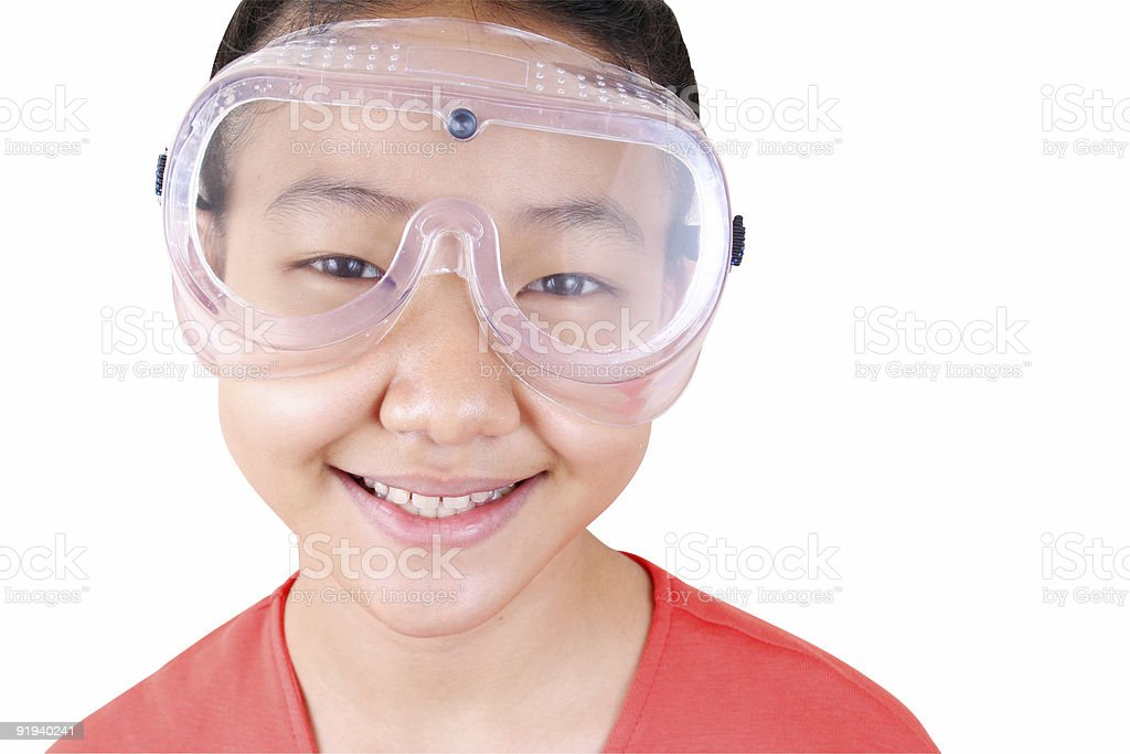 Science girl 6 royalty-free stock photo
