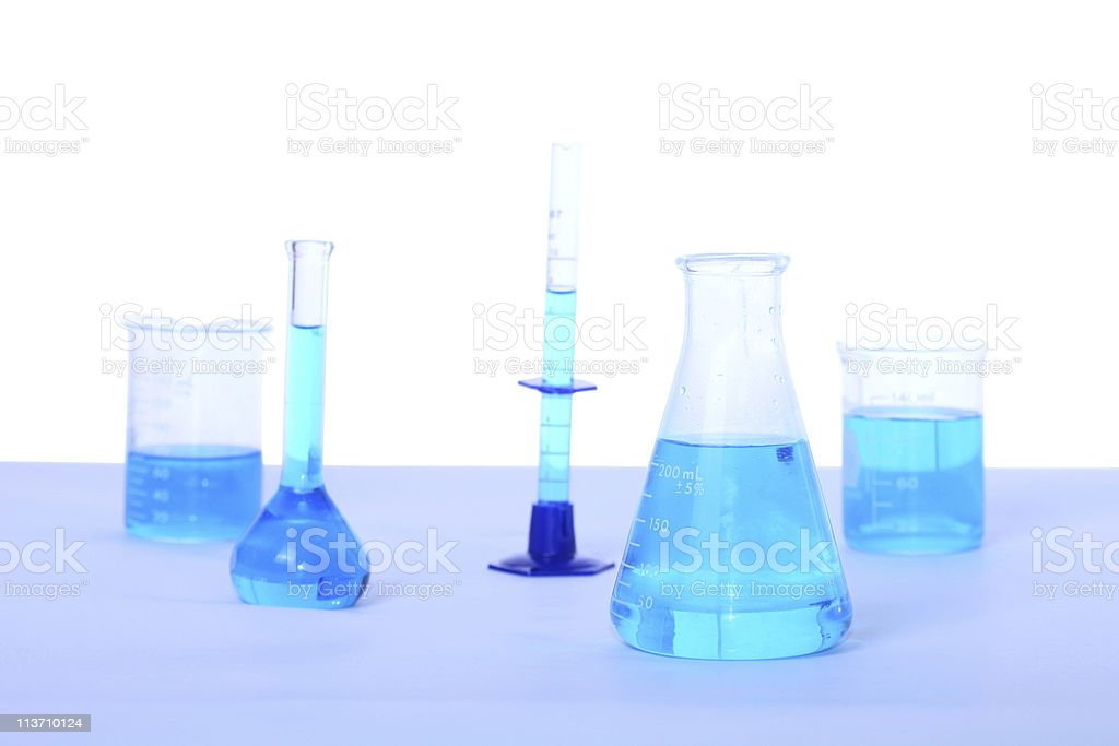 science glassware royalty-free stock photo