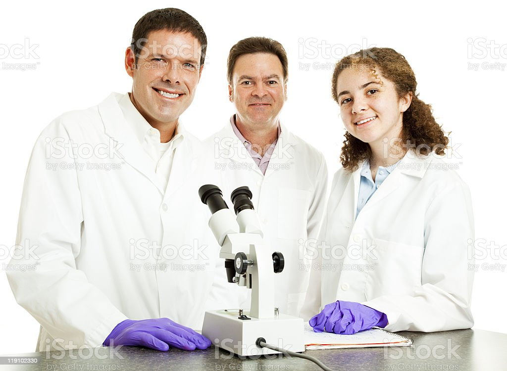 Science Group - Happy royalty-free stock photo