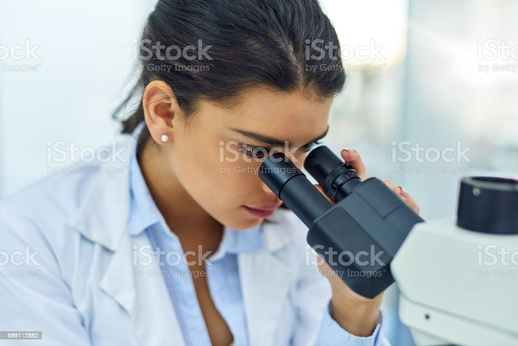 Science is all about the finer details stock photo