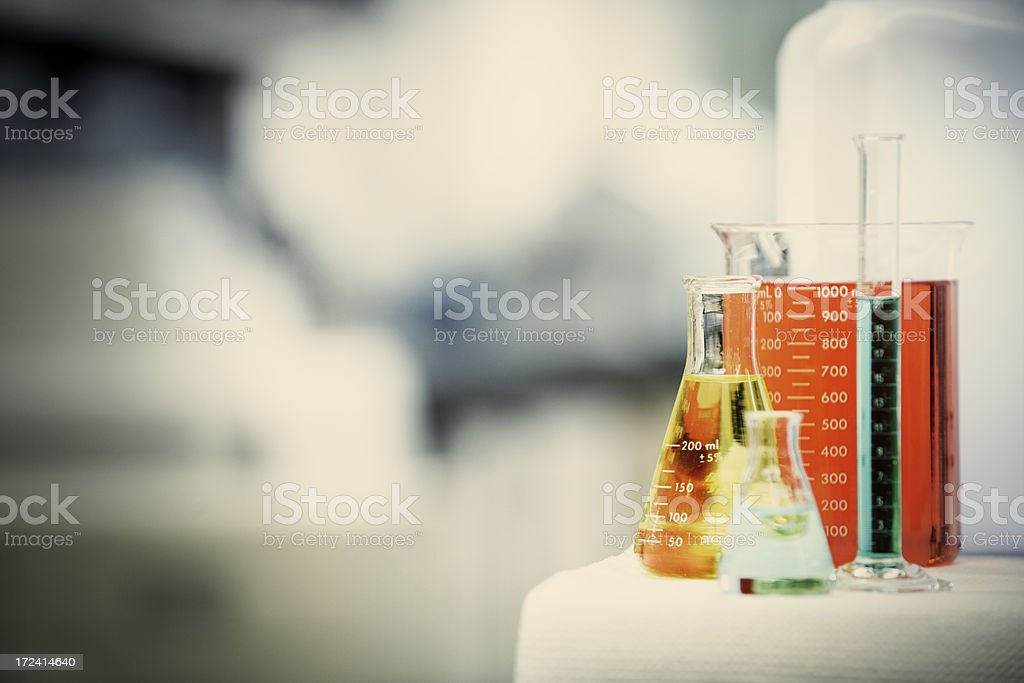 Science Lab Beakers royalty-free stock photo