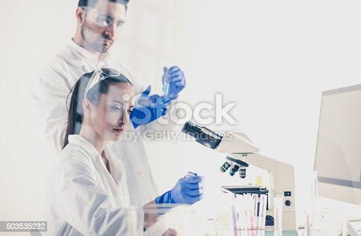 696949550istockphoto Science lab 503535232