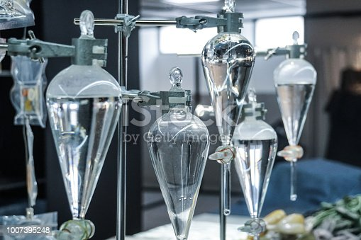 science laboratory glass distill boil water flask