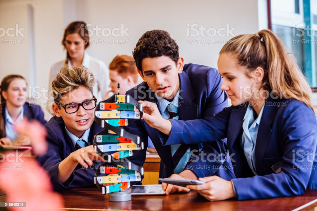 Science Lesson for her Students stock photo