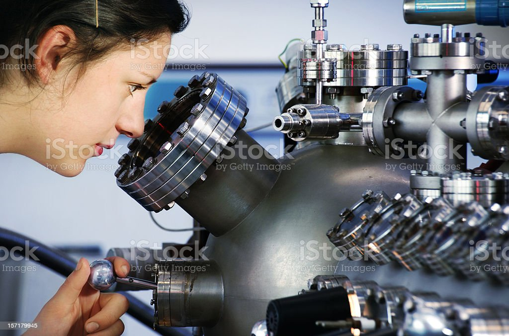 Science - Looking into the XPS stock photo