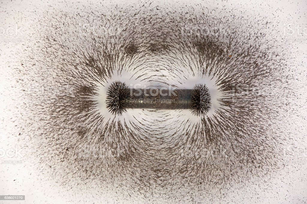 Science. magnetic field. Education. stock photo