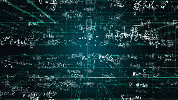 Science, Math, Chemistry Equations stock photo