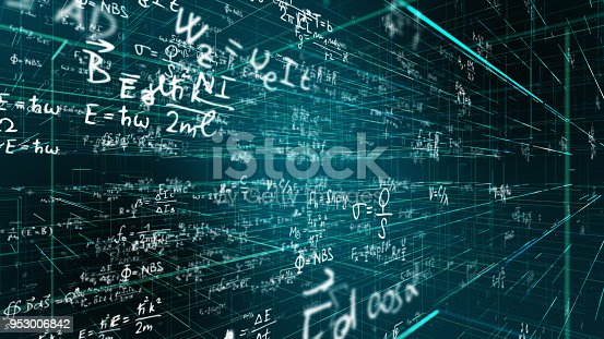 istock Science, Math, Chemistry Equations 953006842