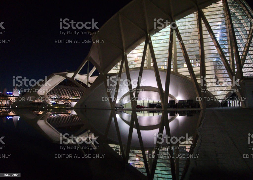 Science Museum, City of Arts and Sciences, Valencia, Spain stock photo