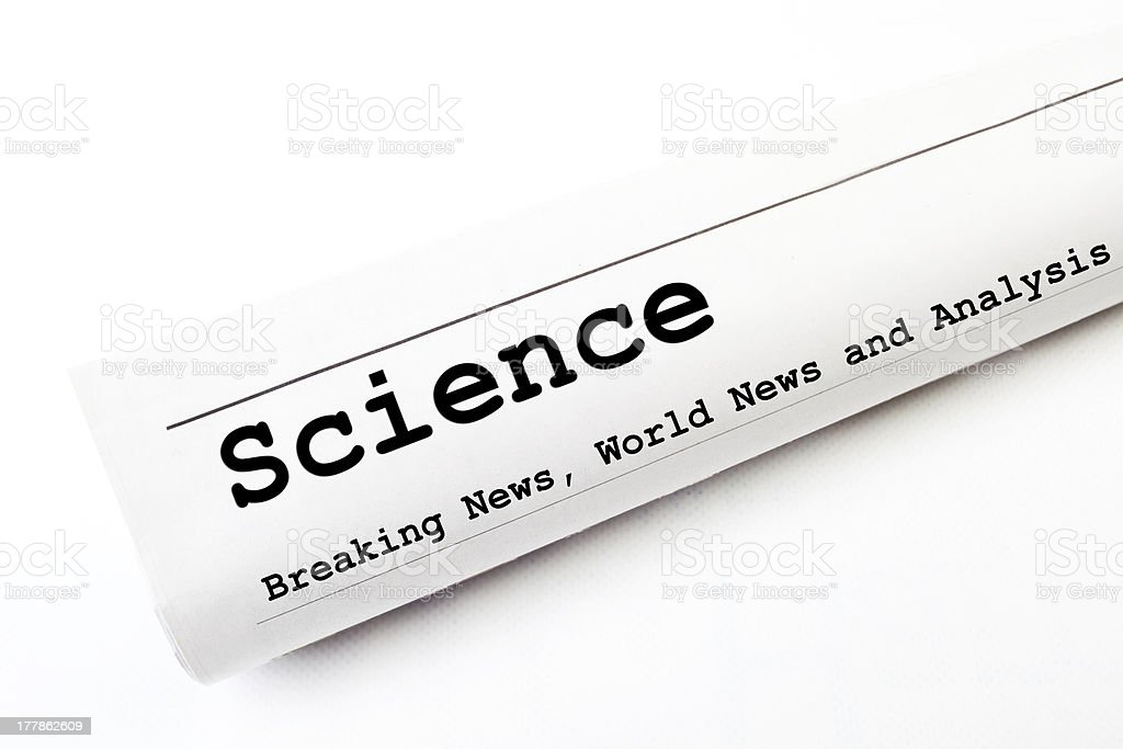 Science newspaper royalty-free stock photo
