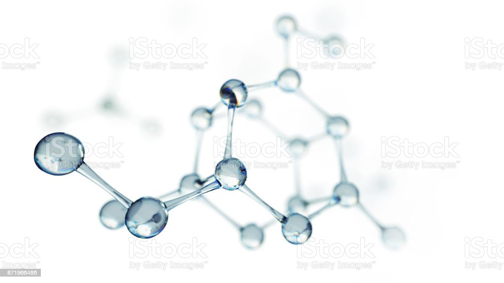 Science or medical background with molecules and atoms. royalty-free stock photo