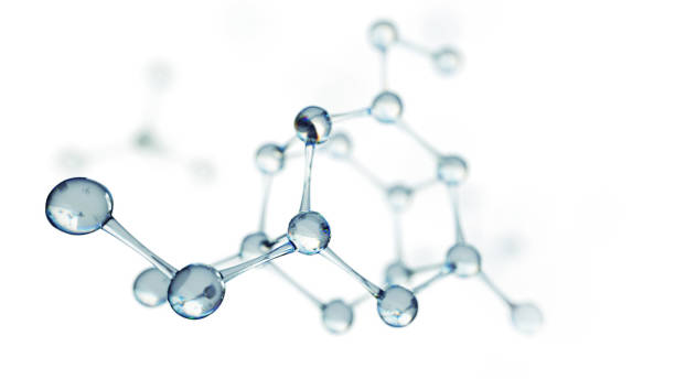 Science or medical background with molecules and atoms. - foto stock
