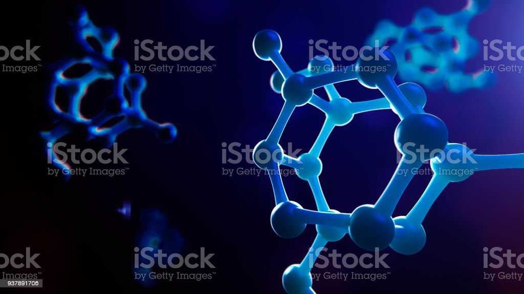Science or medical background with molecules and atoms. stock photo