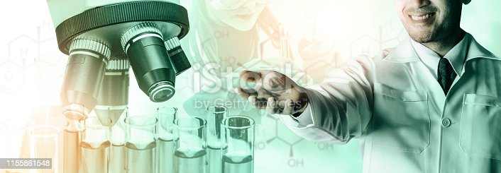 istock Science research and development concept. 1155861548