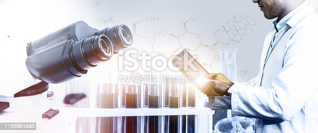 istock Science research and development concept. 1155861550