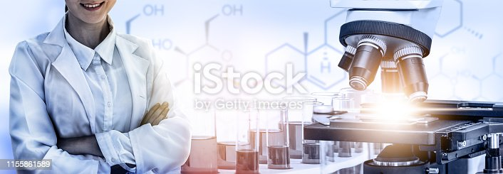 istock Science research and development concept. 1155861589